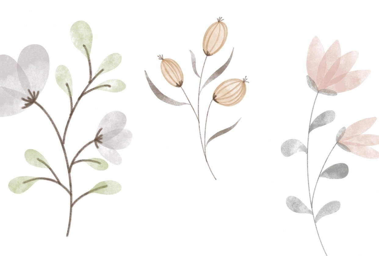 Flower Doodles in Watercolor - student project
