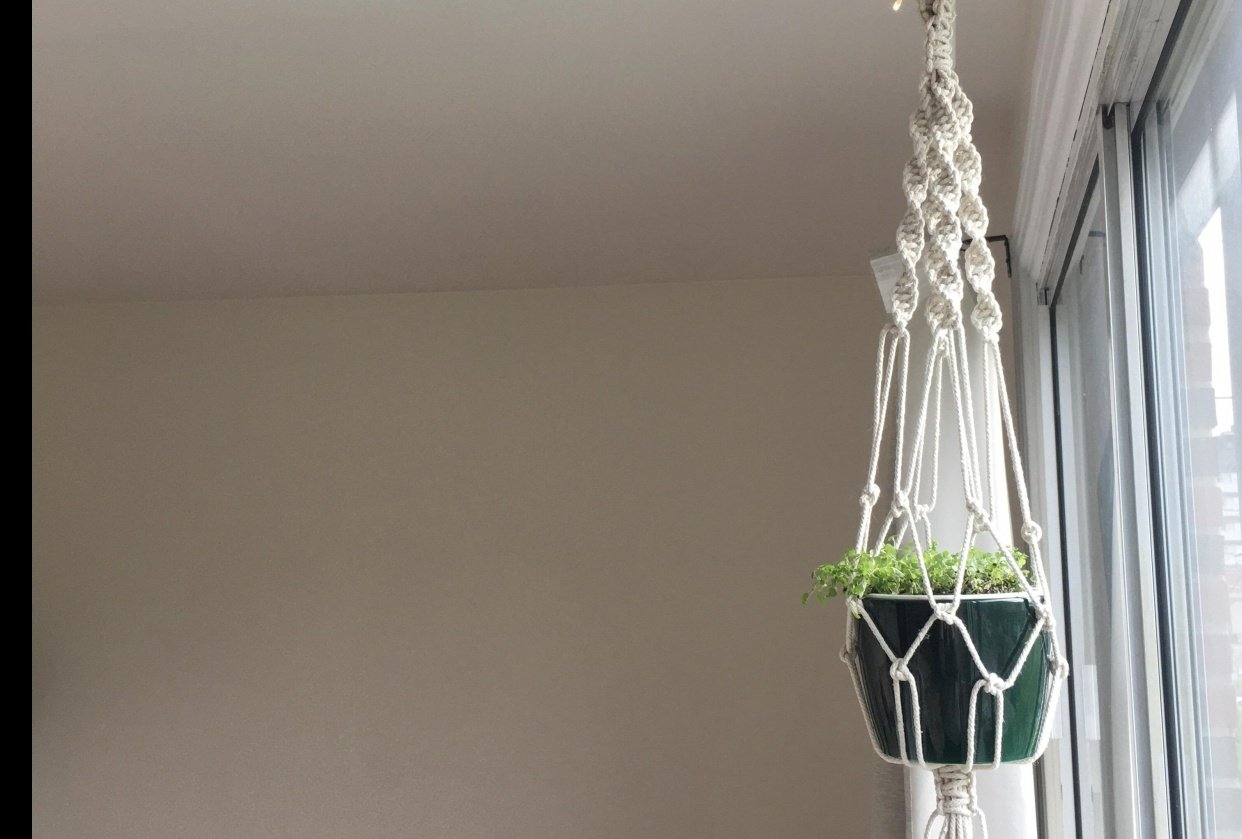 My 1st macrame - student project
