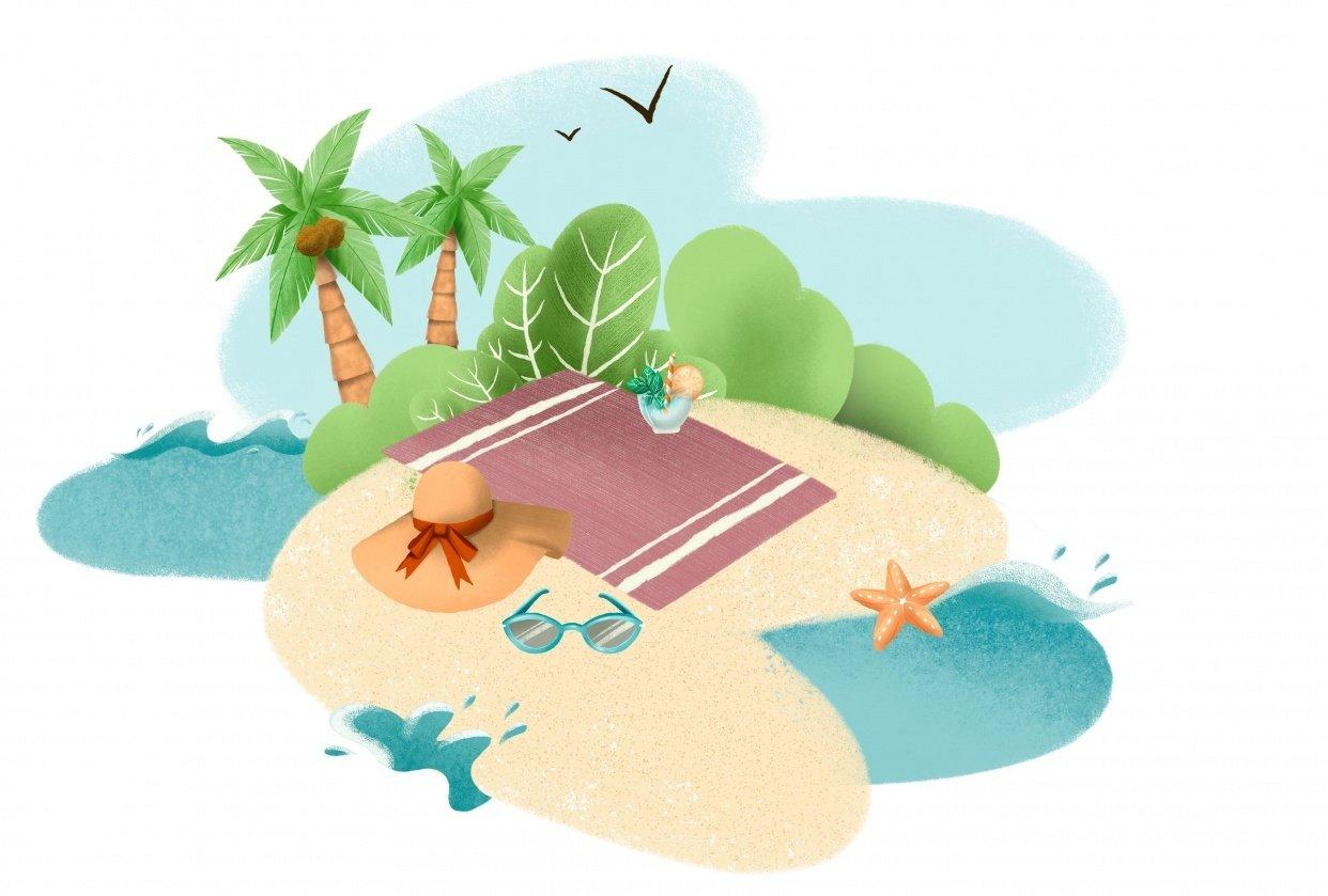 Summer Illustration Set Pack - student project