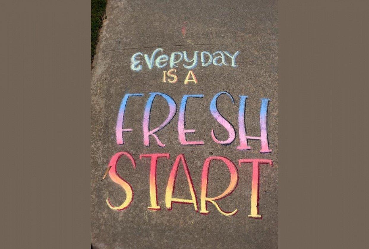 Sidewalk chalk - student project