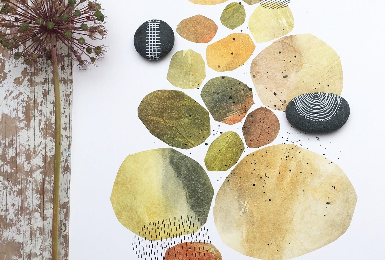 Painted stones - student project