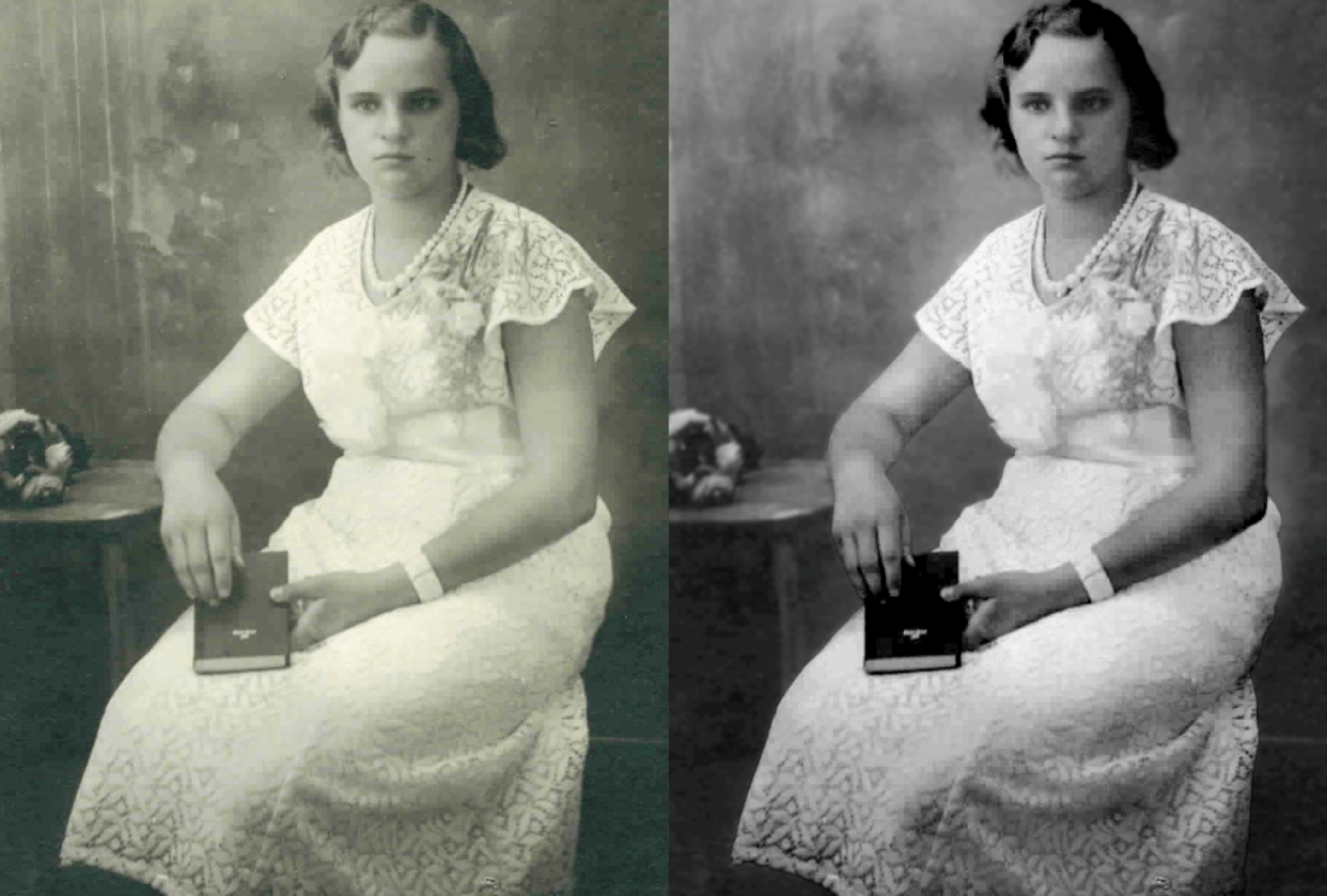 Family photo repaired - student project