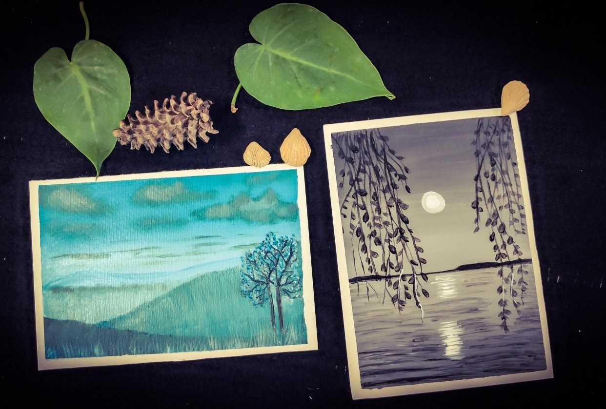 Monochrome Painting (Acrylic Medium)- Specially Designed for Beginners - student project