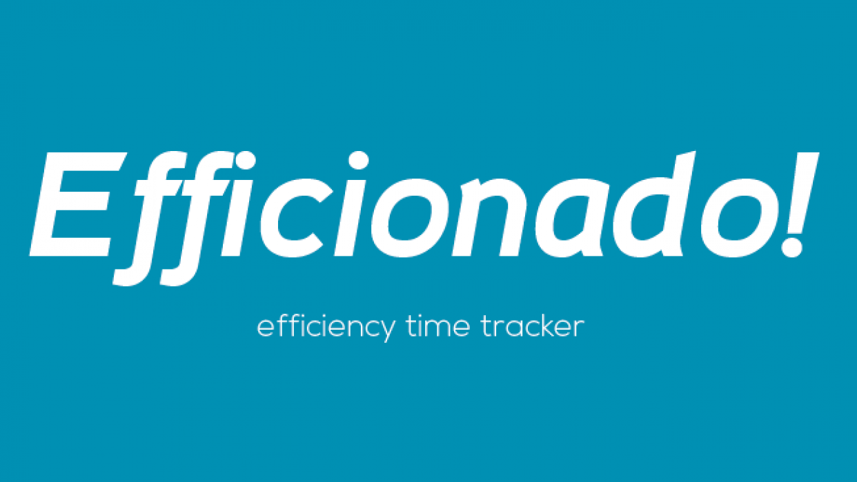 Efficionado! - efficiency time tracker - student project