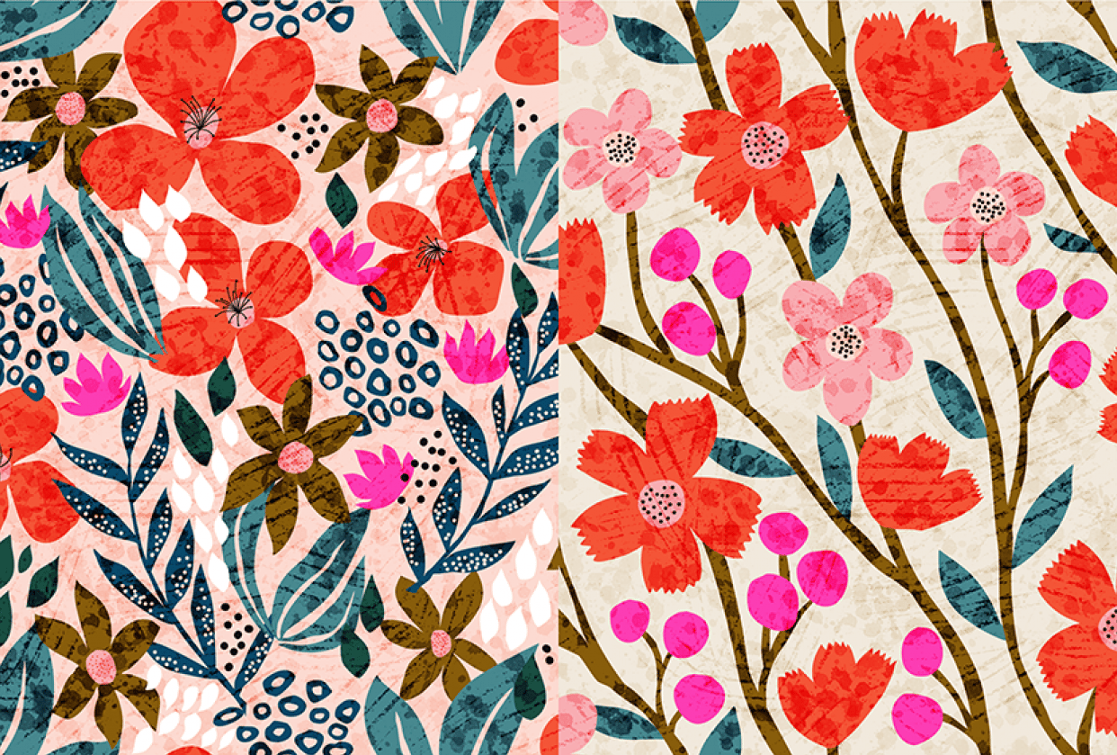 Wildflower Pattern Collection - student project