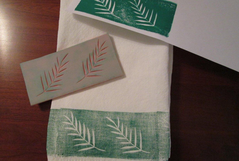 Botanical Border Print - student project