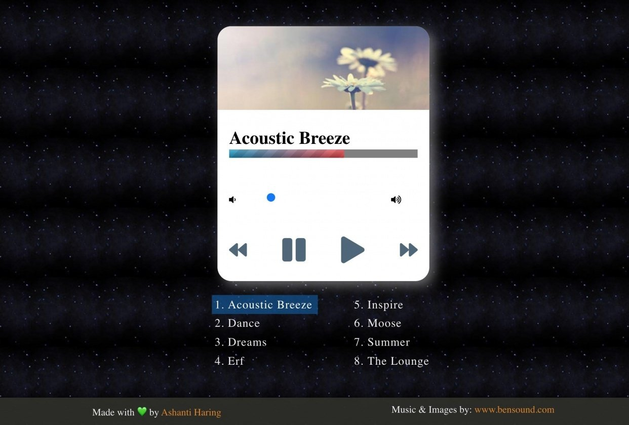 Chill Music Player - student project