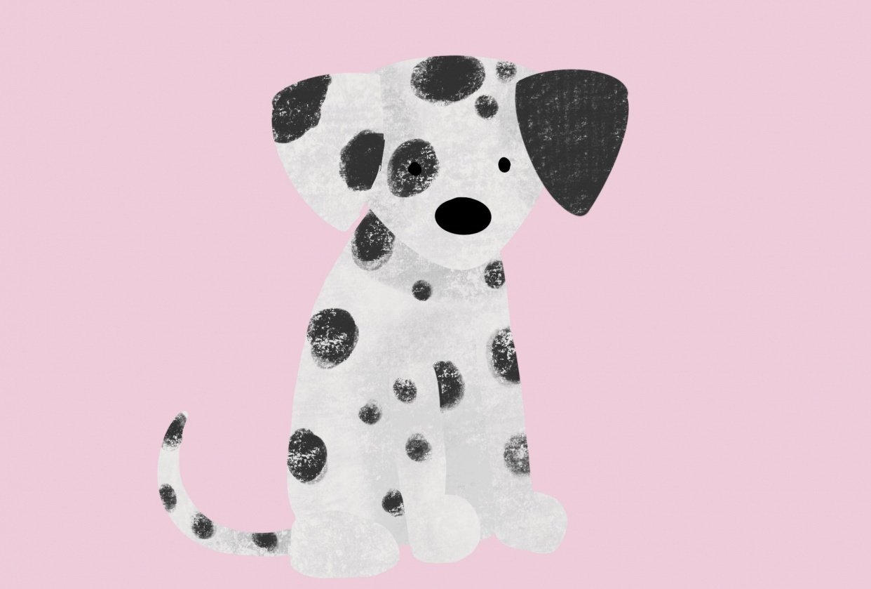 Dalmatian puppy - student project