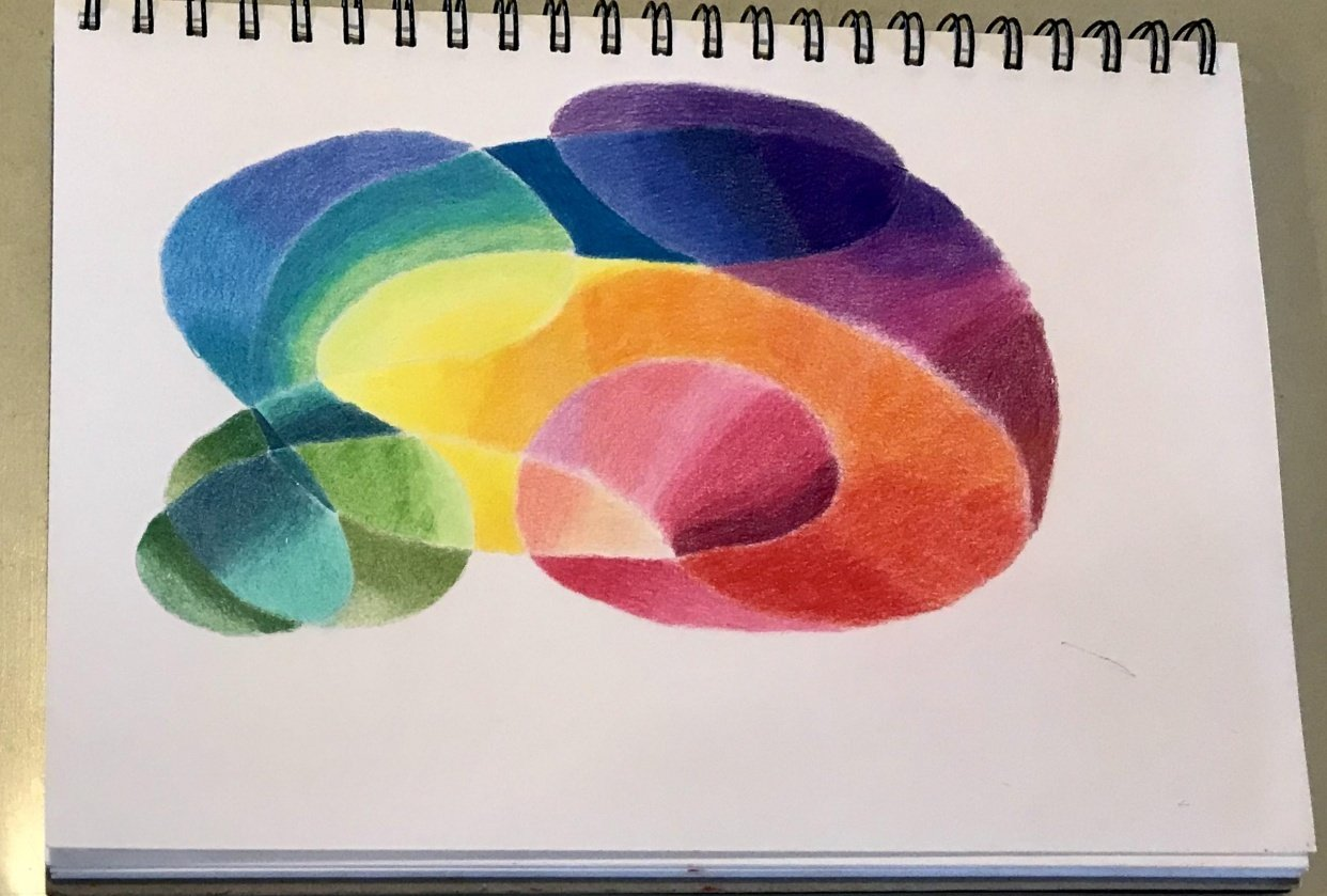 abstract rainbow - student project