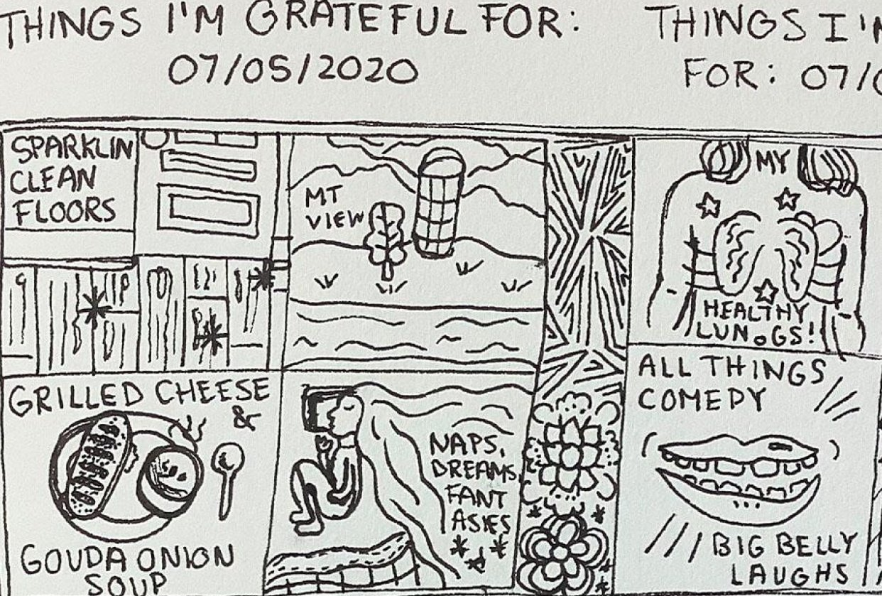 Drawing Gratitude - student project