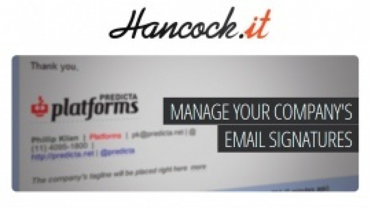 Hancock.it - Manage your email signatures - student project