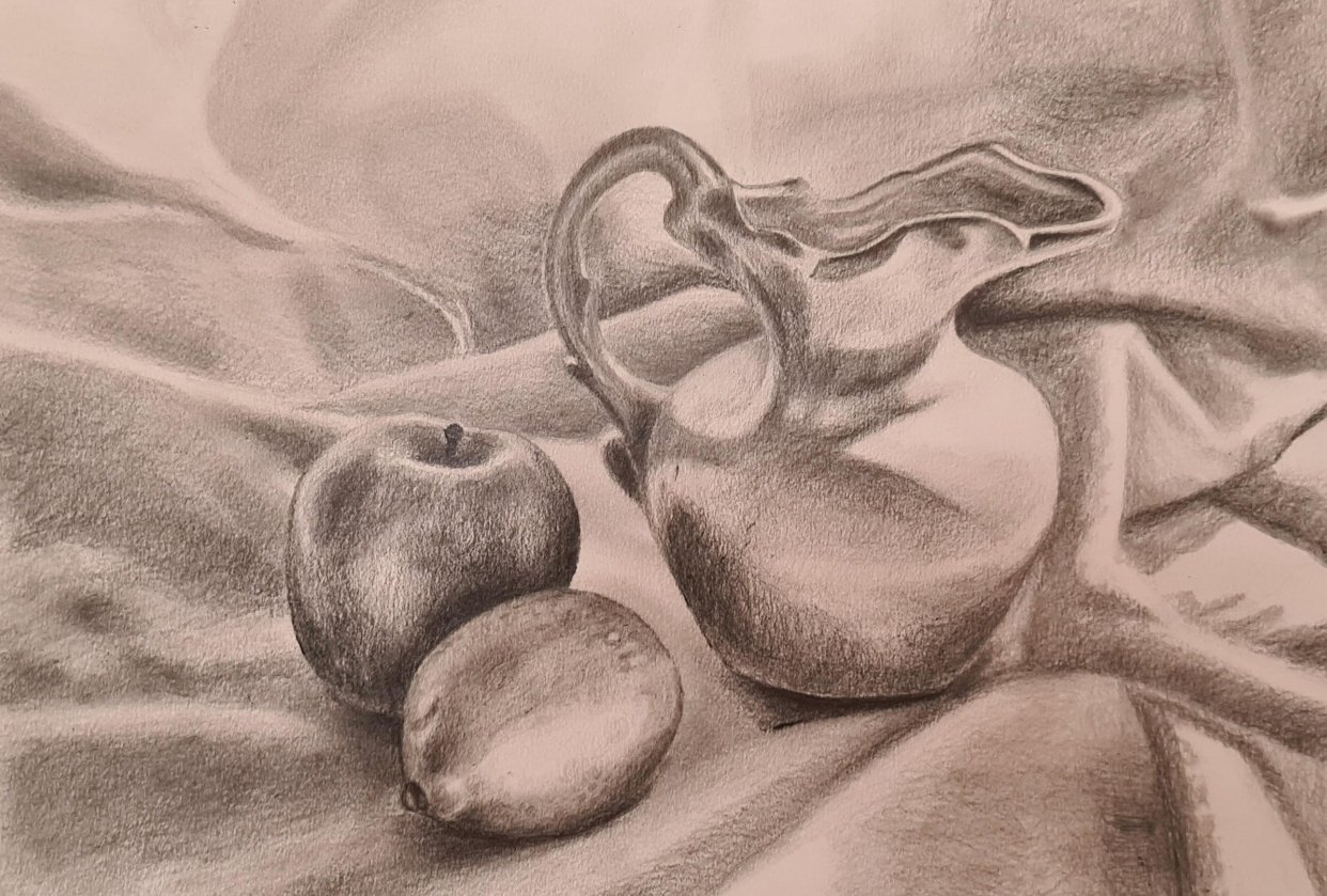Vase and fruit still life! - student project