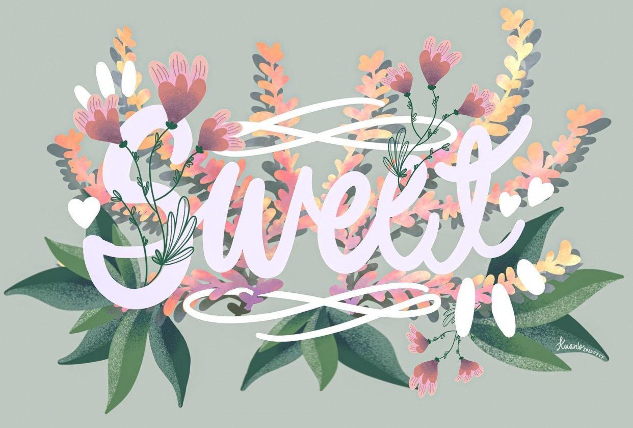 Sweet florals - student project