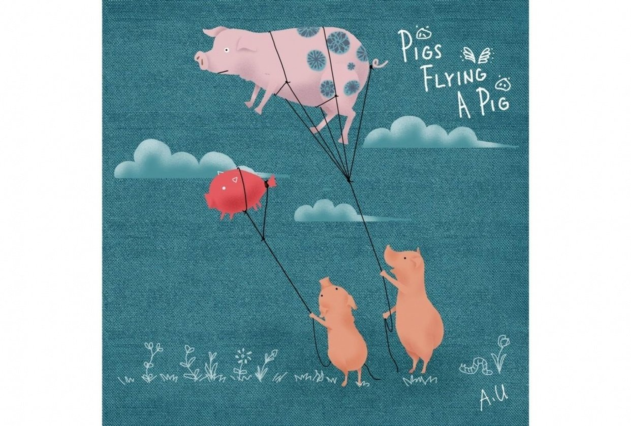 Pigs Flying a Pig - student project