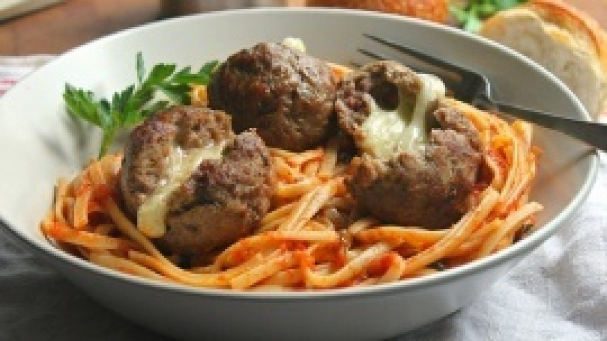 Pepper Jack Cheese Stuffed Meatballs - student project