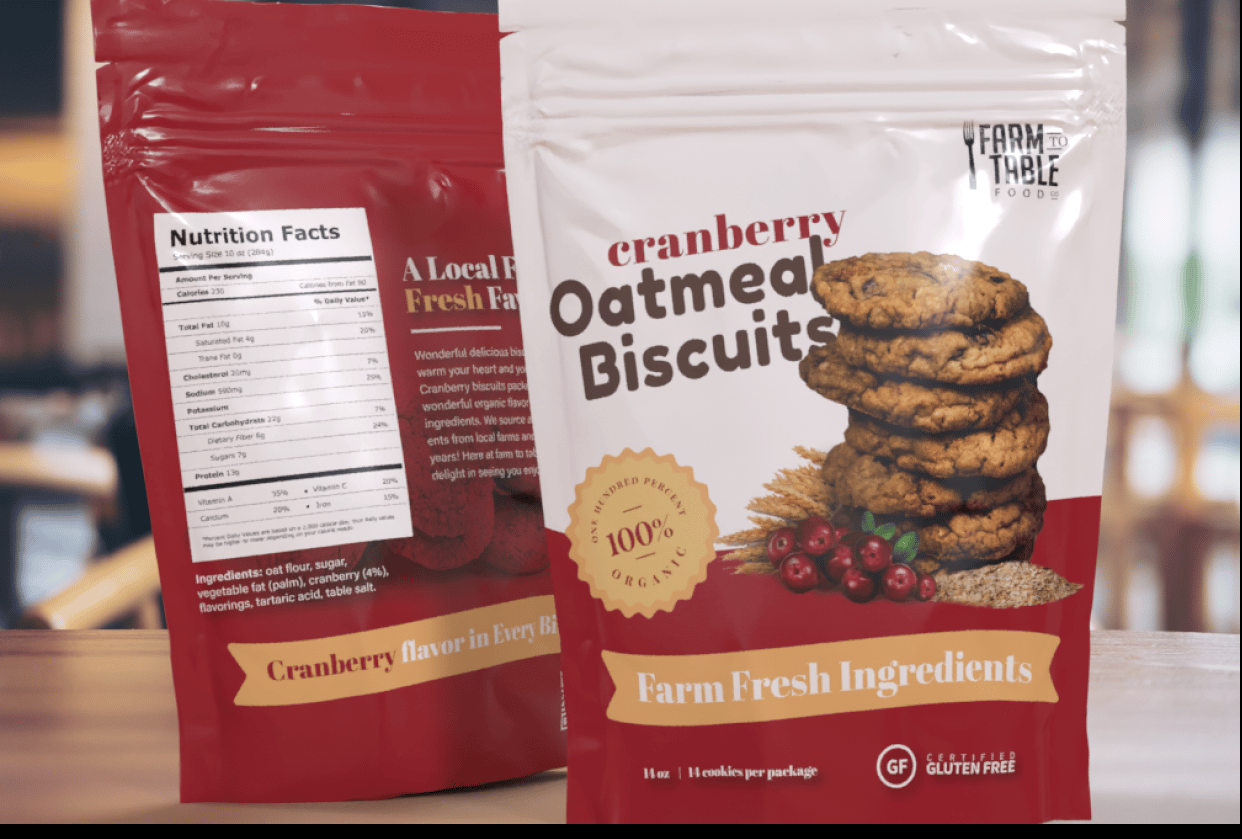 Cranberry Oatmeal Biscuits - student project