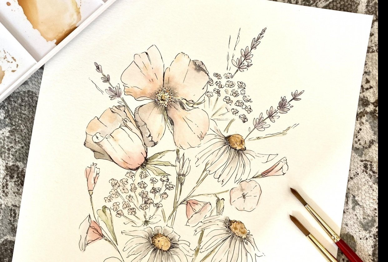 Wild bouquet - student project