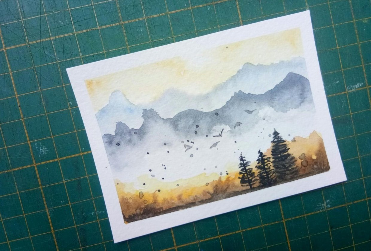 misty mountain - student project