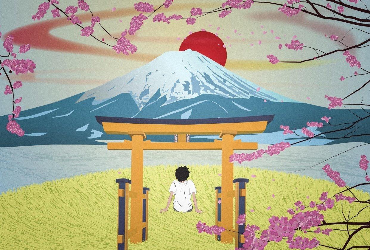 Fuji Sunset - student project