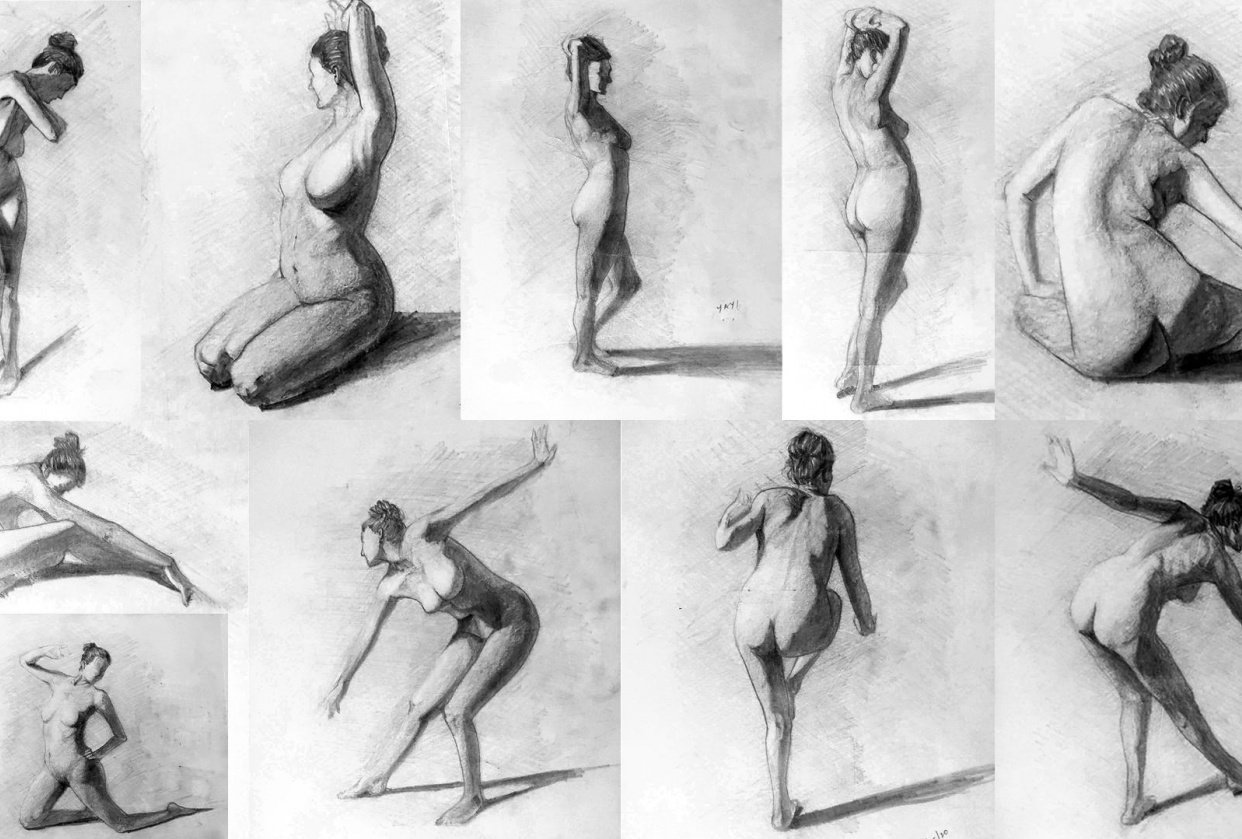 Figure Drawing Practice - Brent Eviston - student project