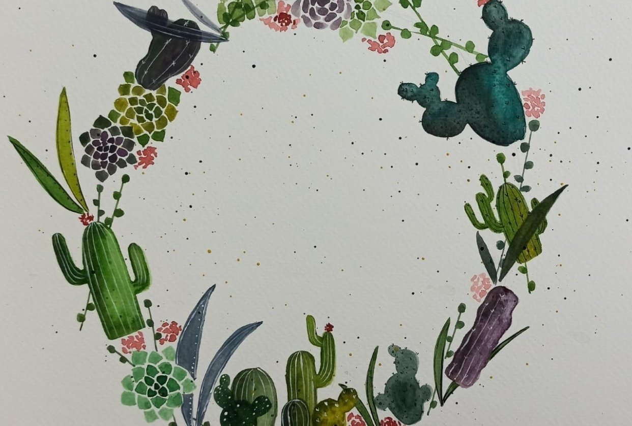 Cactus Wreath! - student project