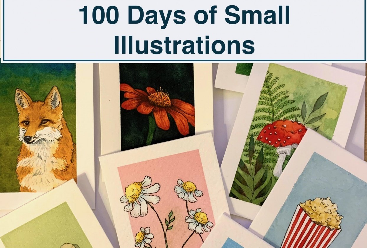 100 Days of Small Illustrations - Finished - student project