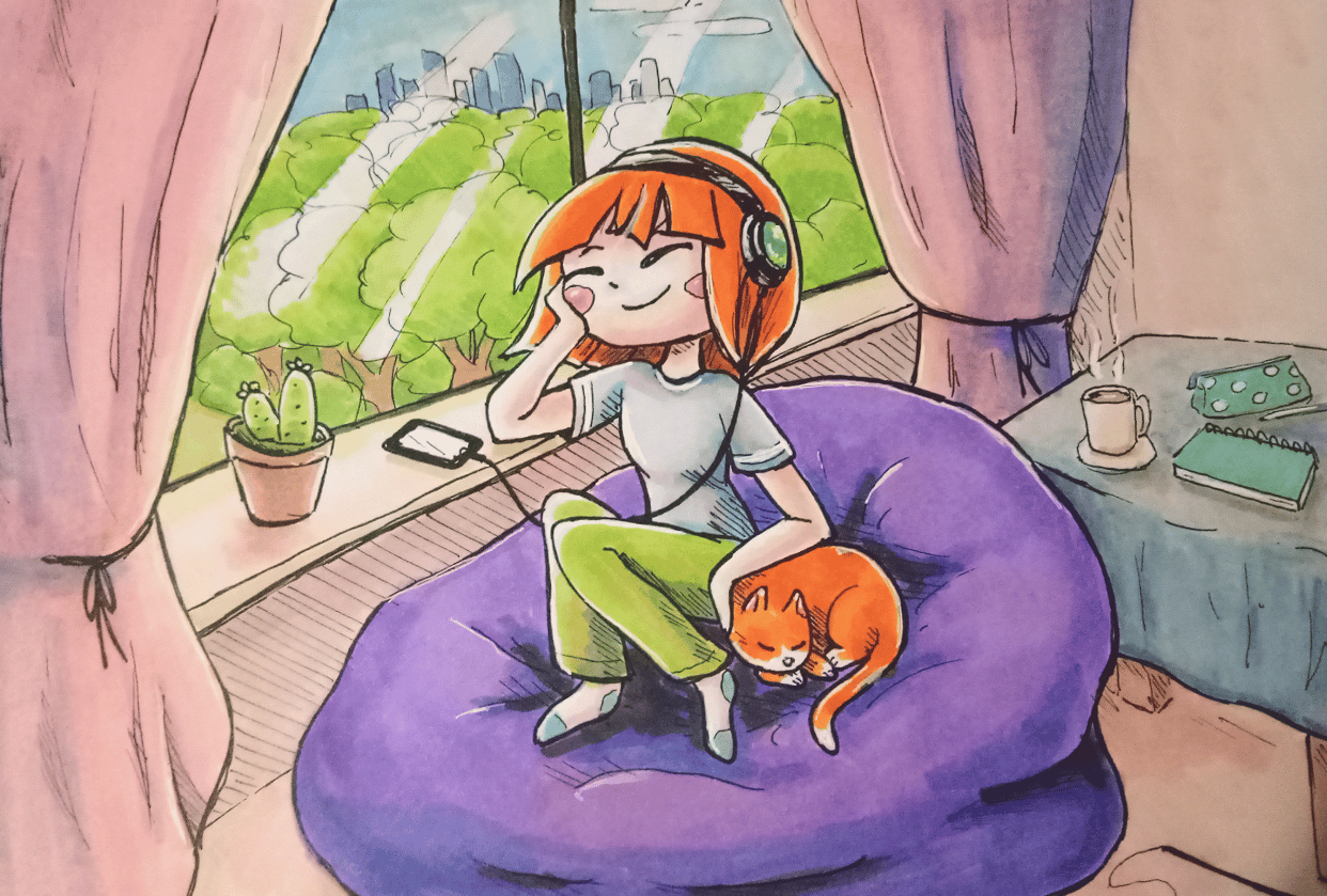 Staying Inside - An Illustration (with Jazza) - student project