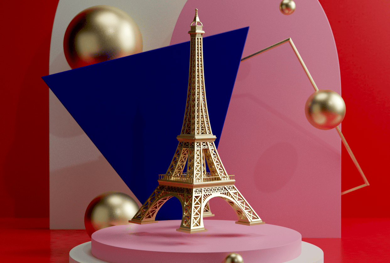 Eiffel Tower 3D - student project