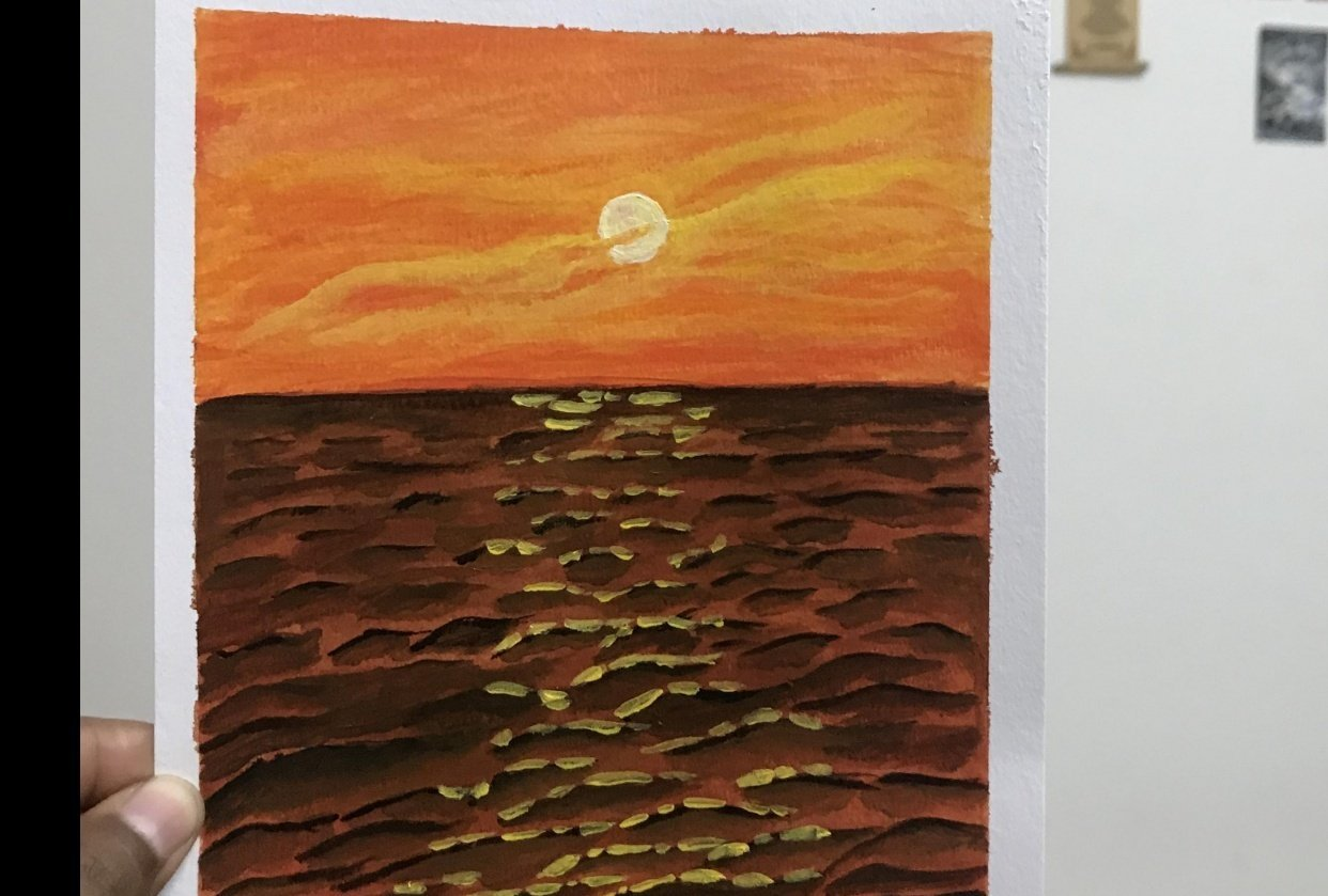 Beautiful sunset! Thanks Deb for the lesson - student project