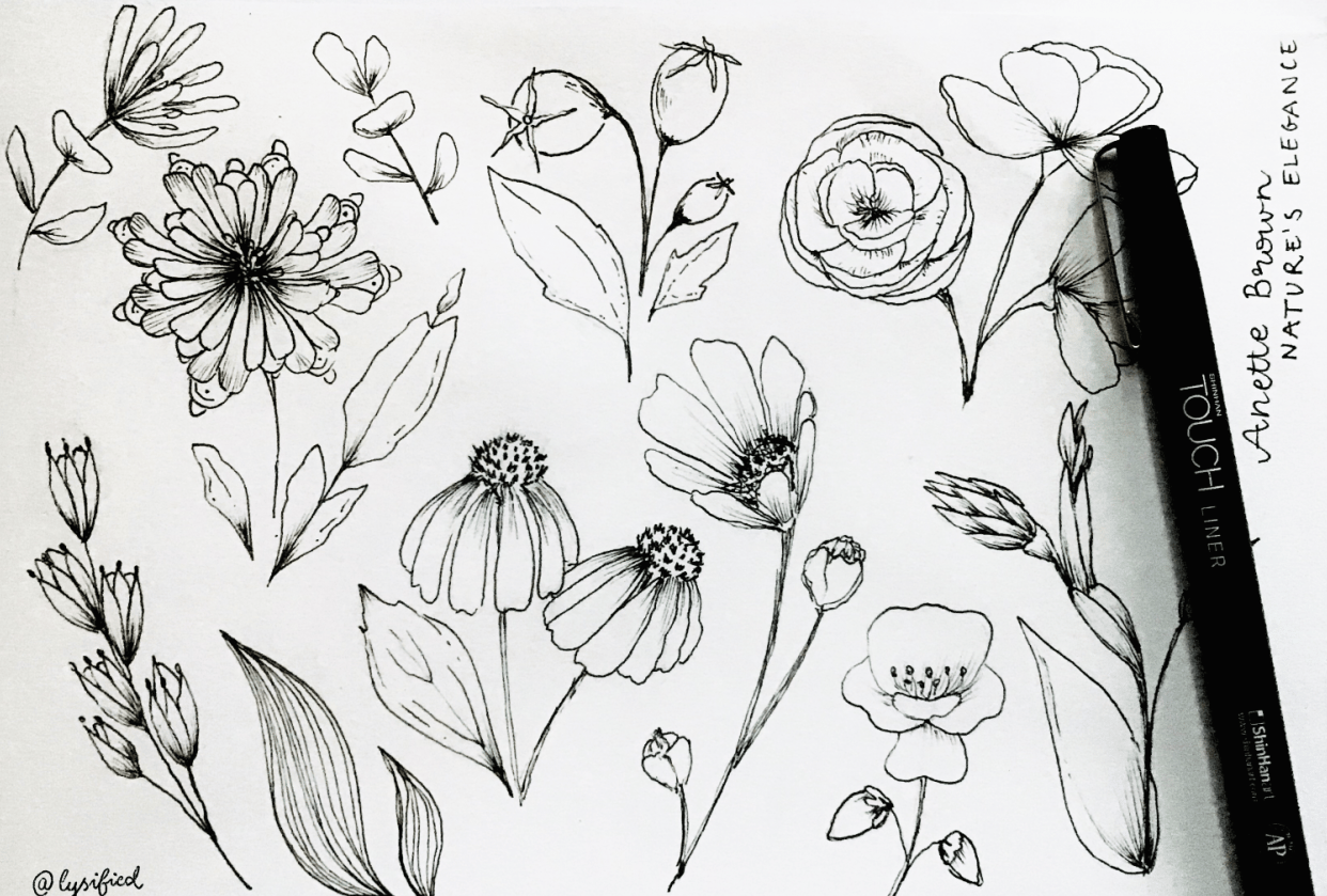 Flower study with Anette - student project