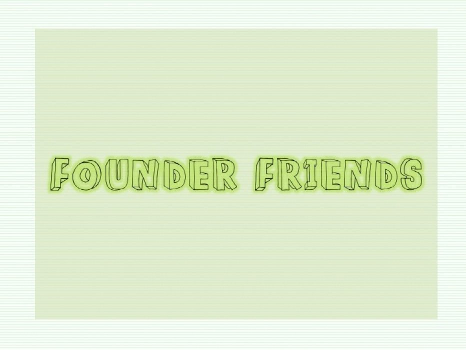 Founder Friends - student project