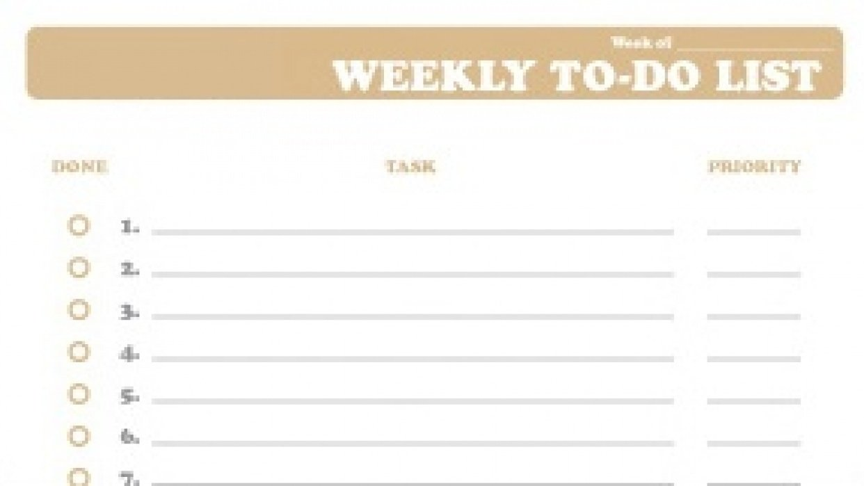 Weekly Tasks - student project