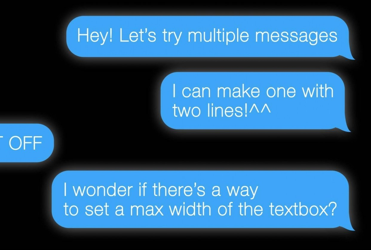 iMessage template - student project