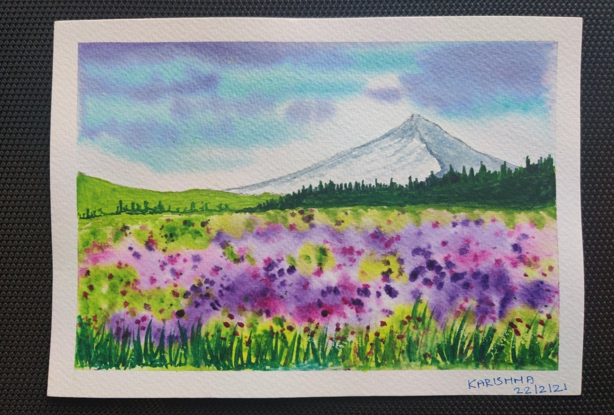 Watercolors for 30-day challenge, updated on 3-Feb-21 - student project