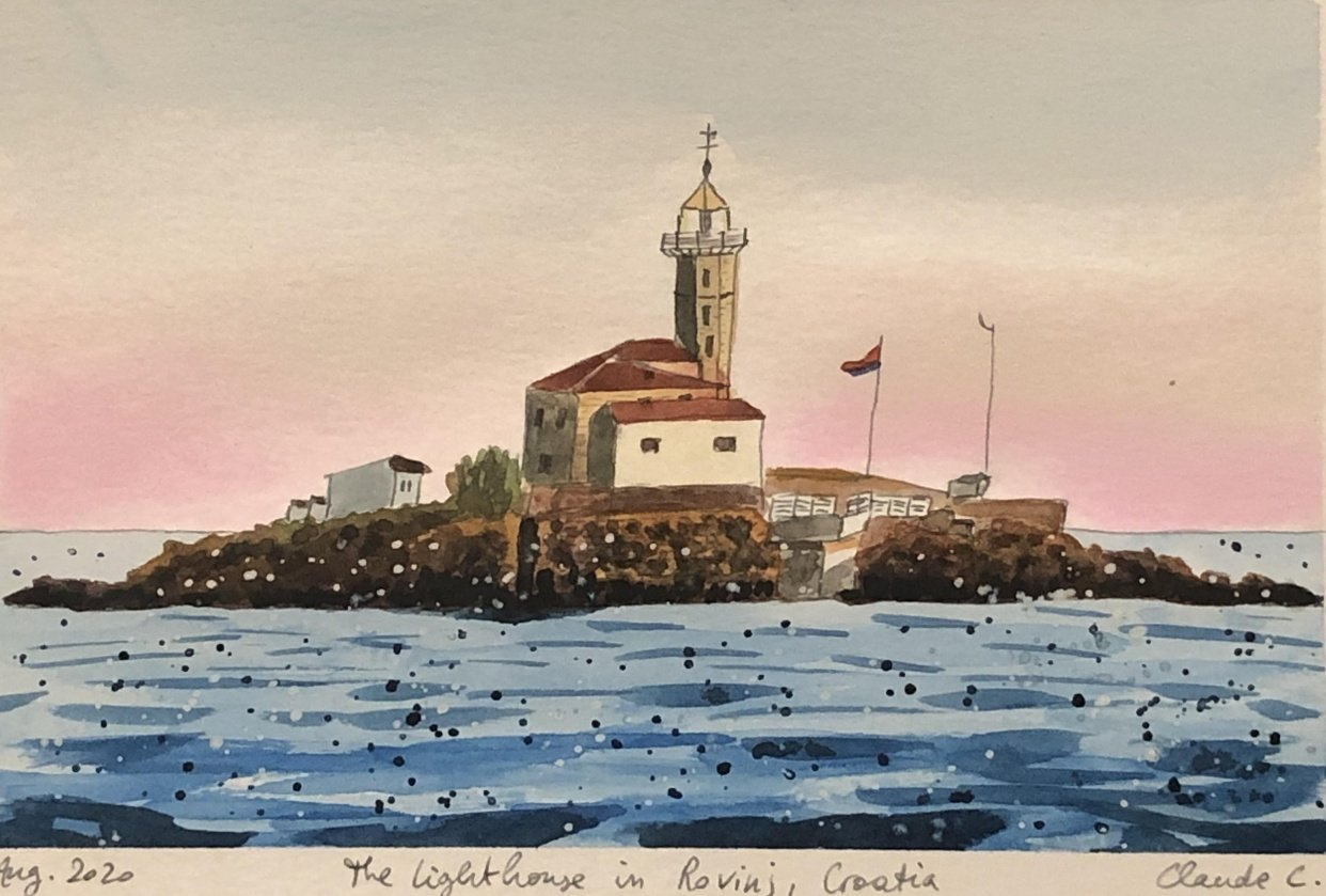 Lighthouse in Rovinj, Croatia - student project