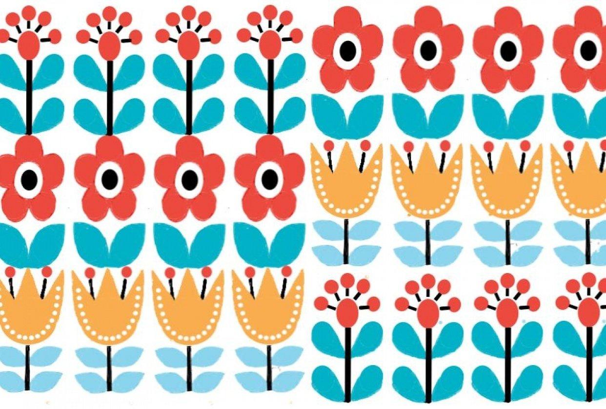 Folk Art Flower Pattern - student project