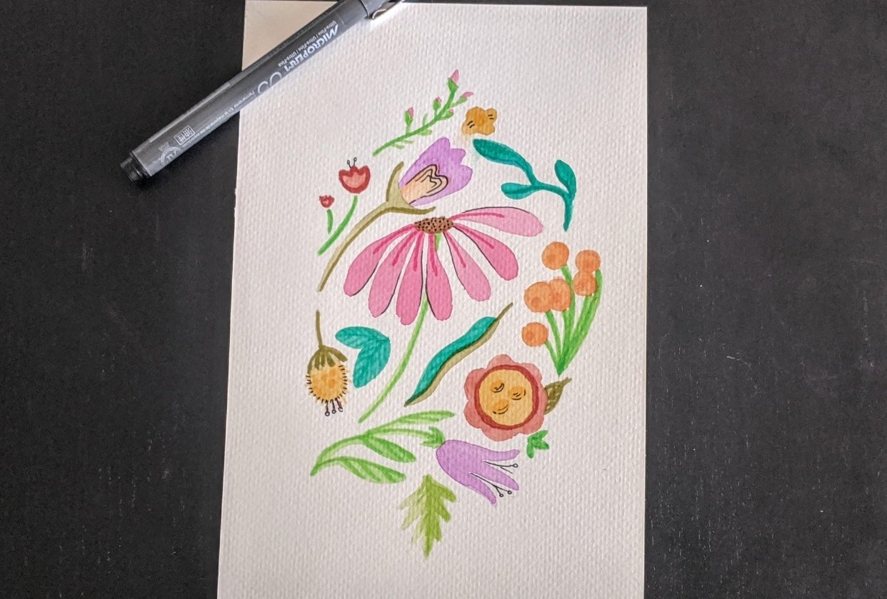 Expressive Florals Made My Day Brighter! - student project