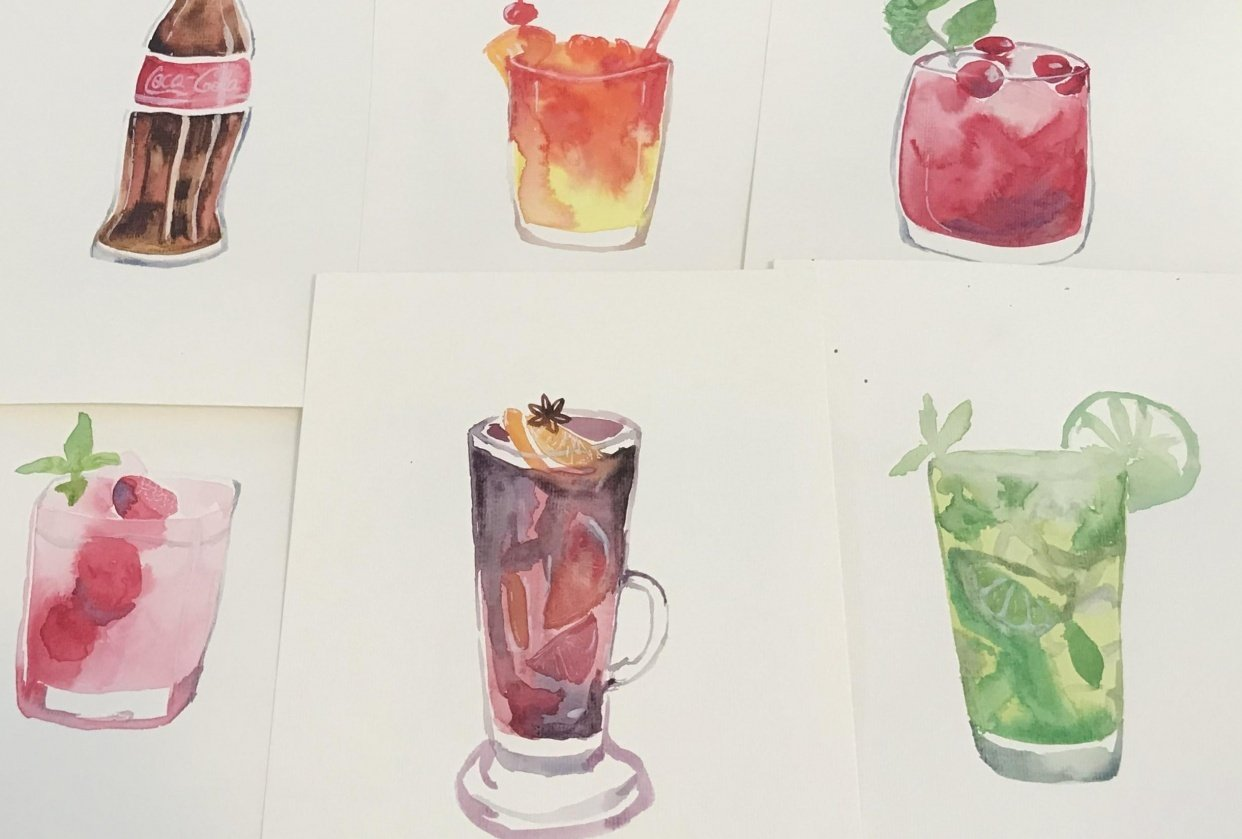 Water color drinks - student project