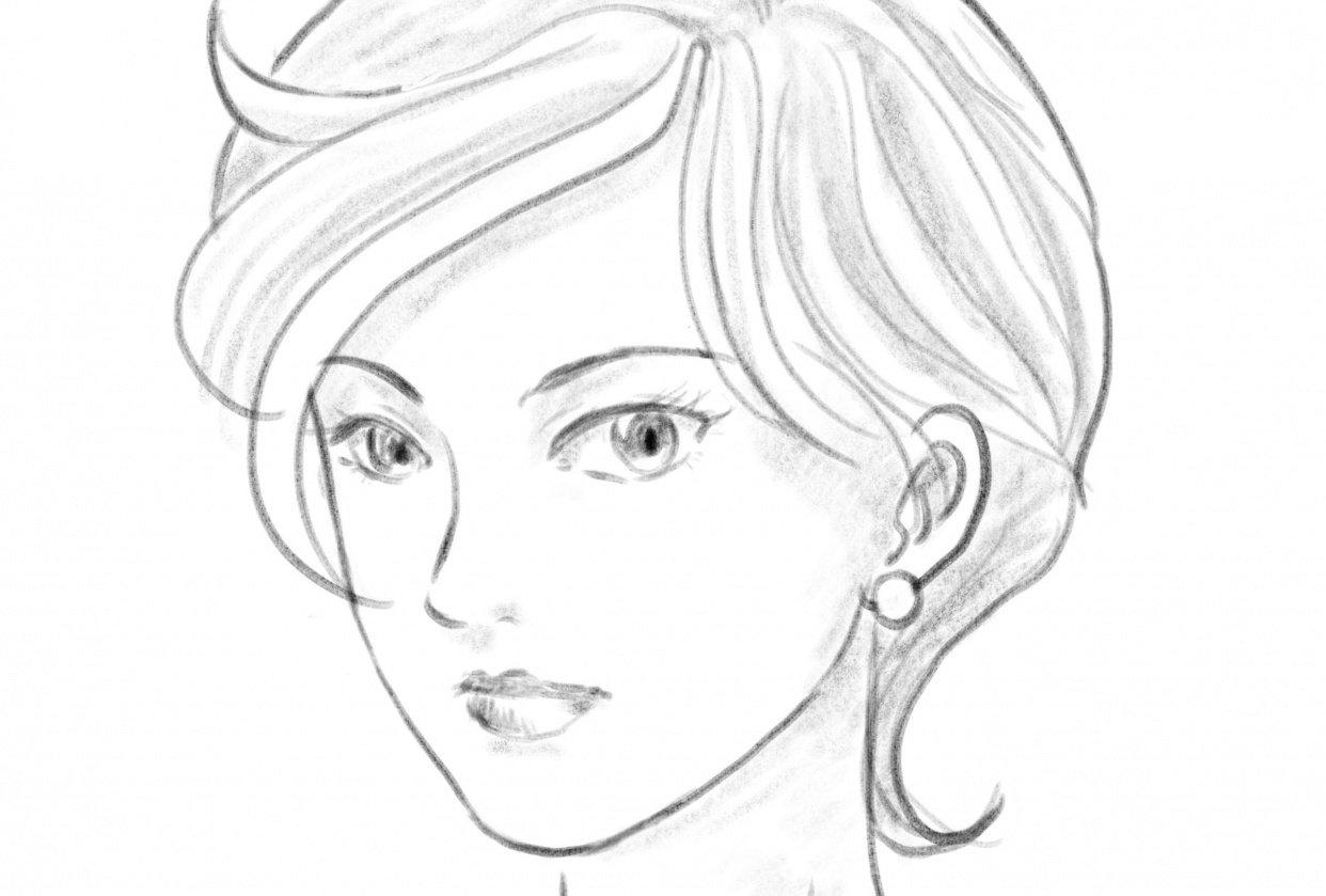 Procreate female portrait - student project
