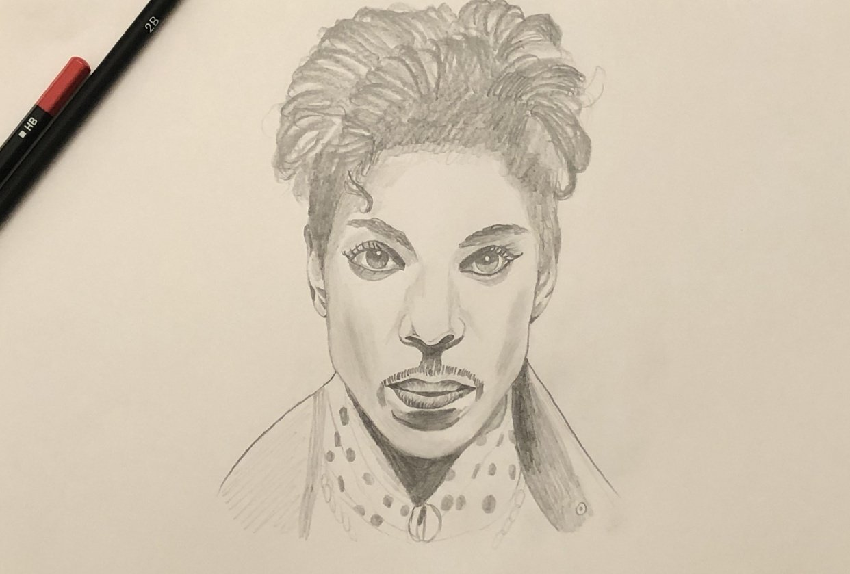 Prince pencil drawing - student project