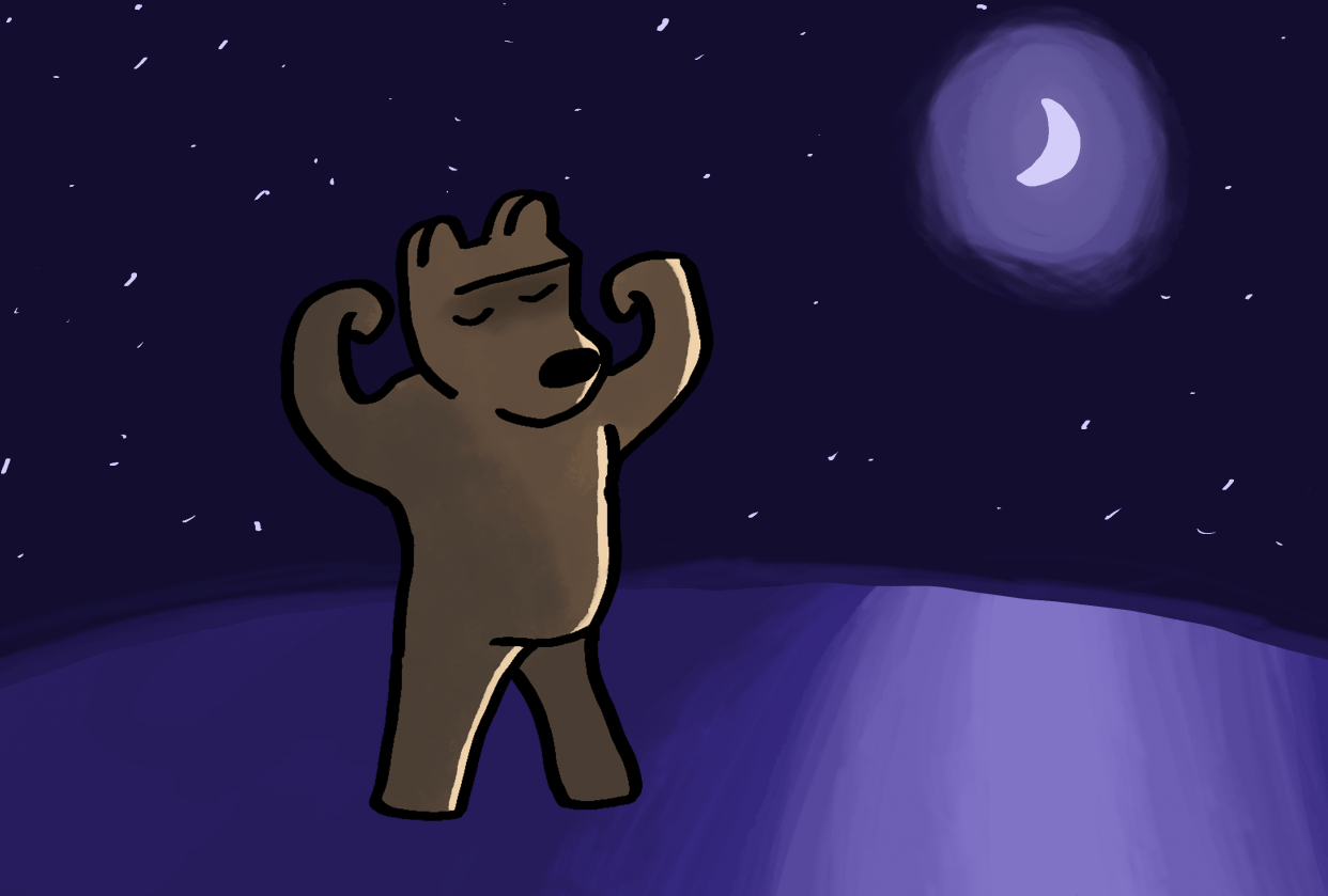Bear dancing - student project