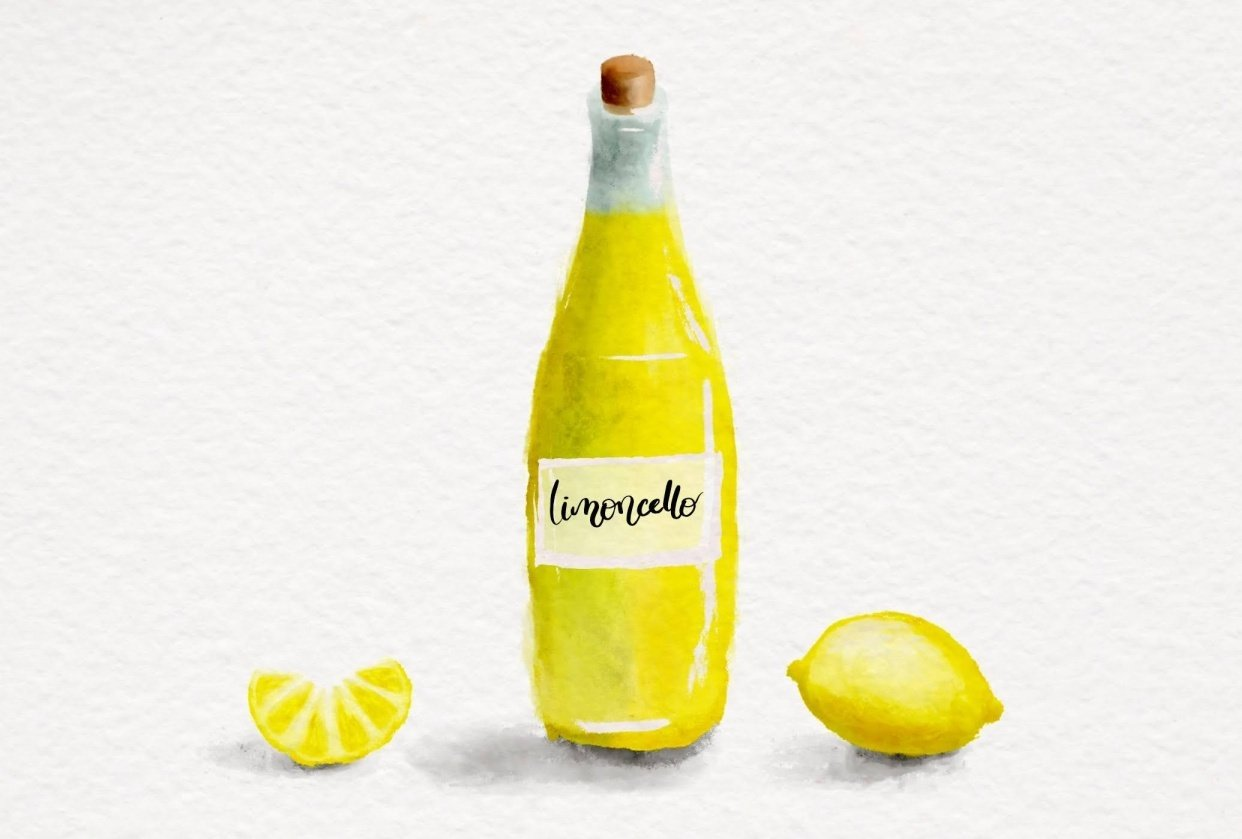 Watercolor Limoncello - student project