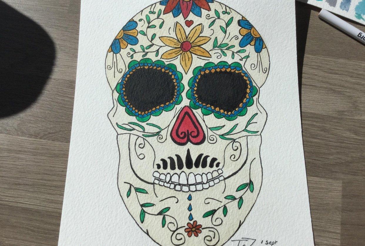 Mr Big Chin, sugar skull! - student project