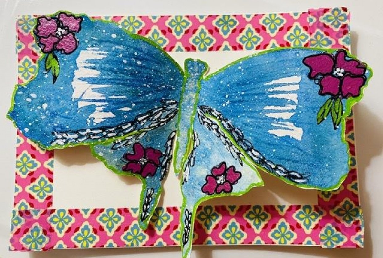Whimsical Wonky Butterflies - student project