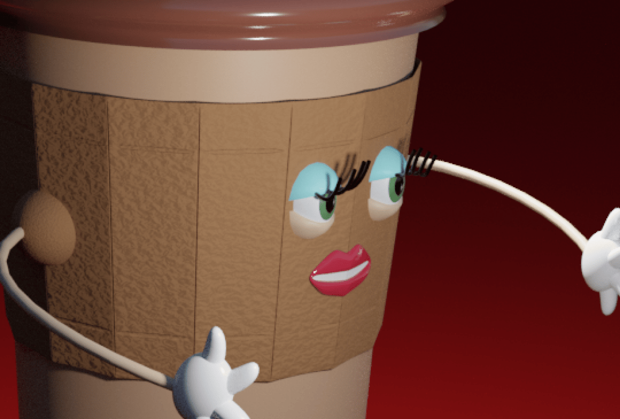 Coffee Cup Lady - student project