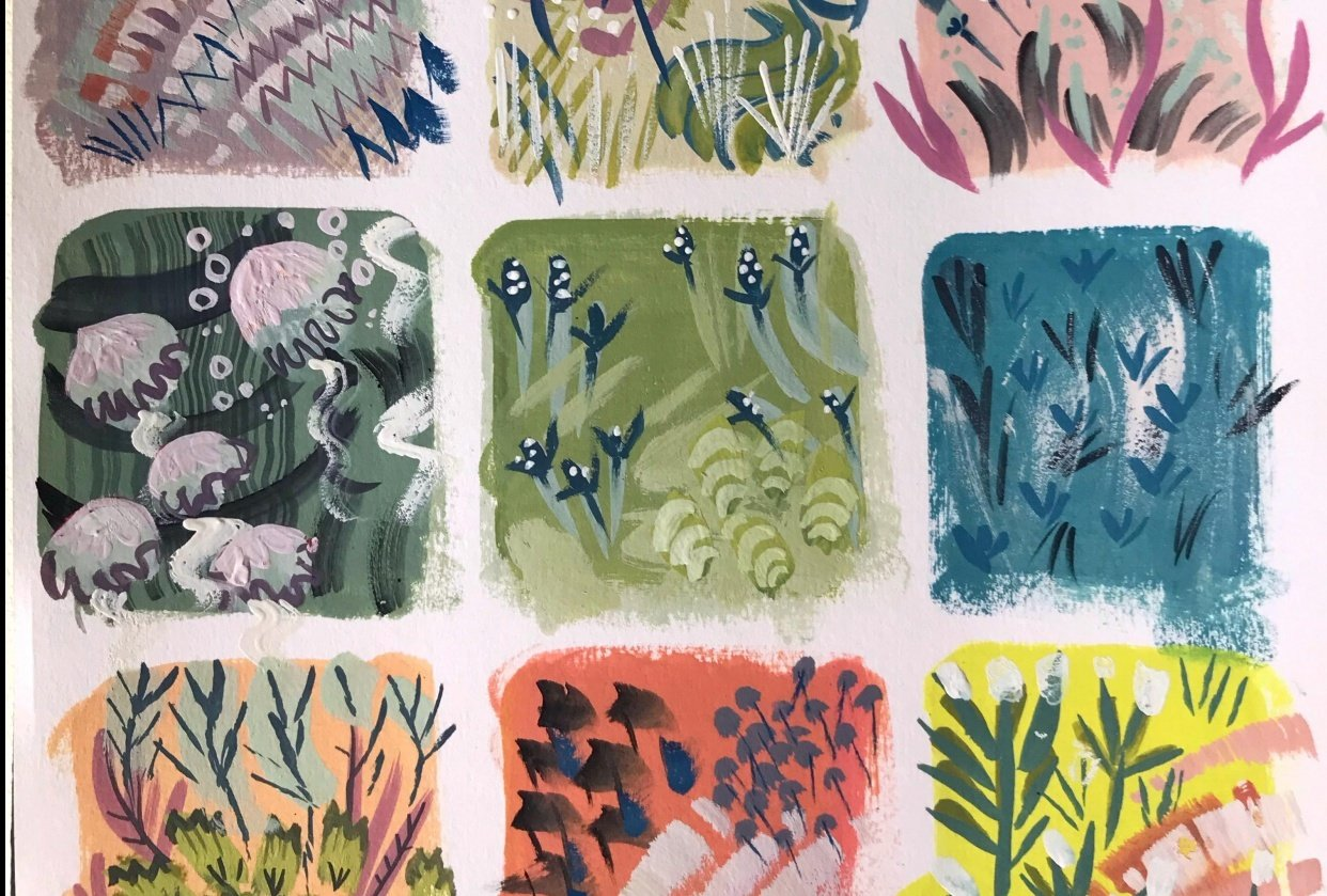 Colour & pattern-making mini-task + final project - student project