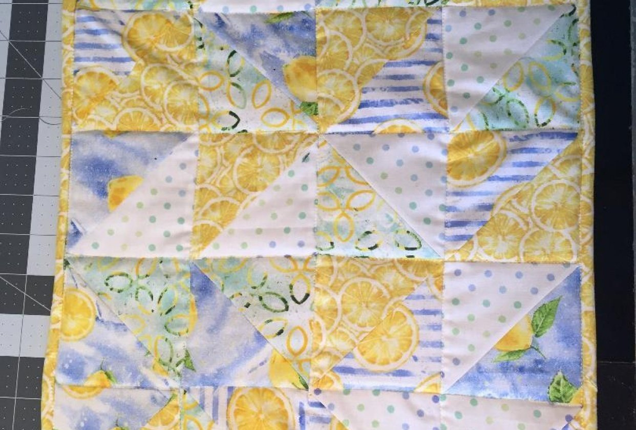 Finishing Quilt Topper - student project