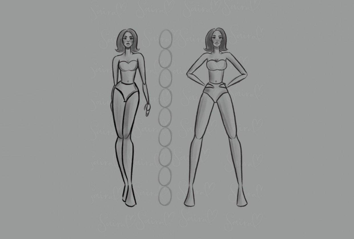 Figure drawing - Fashion illustration. - student project