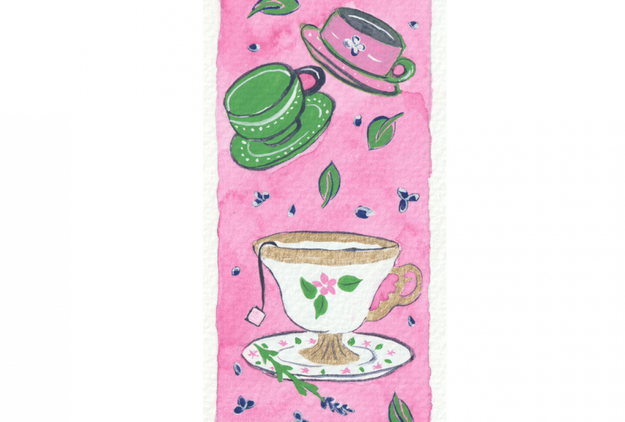 Teacups bookmark - student project