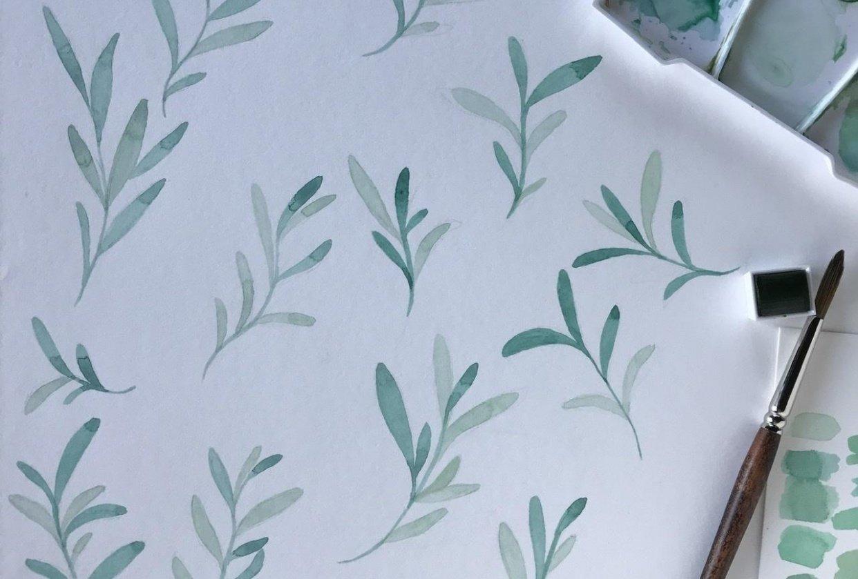 Greenery pattern - student project